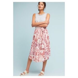 Anthropologie STAYCATION PRINTED SKIRT NEW